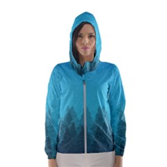 Winter Land Blue Hooded Wind Breaker (women)