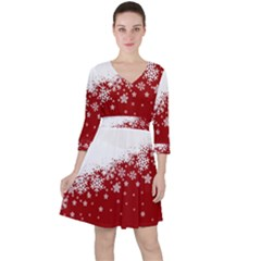 Xmas Snow 01 Ruffle Dress