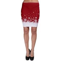 Xmas Snow 02 Bodycon Skirt