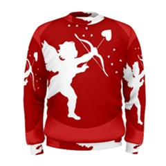 Cupid Bow Love Valentine Angel Men s Sweatshirt