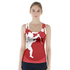 Cupid Bow Love Valentine Angel Racer Back Sports Top