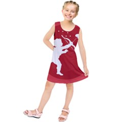 Cupid Bow Love Valentine Angel Kids  Tunic Dress