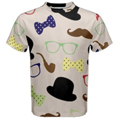 Moustache Hat Bowler Bowler Hat Men s Cotton Tee