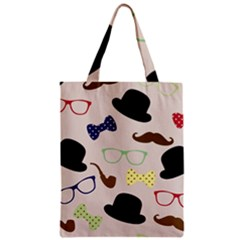 Moustache Hat Bowler Bowler Hat Zipper Classic Tote Bag