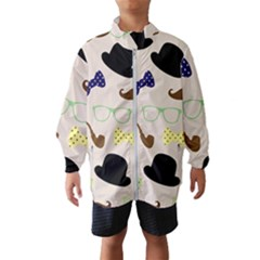 Moustache Hat Bowler Bowler Hat Wind Breaker (kids)