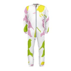Birds Colourful Background Onepiece Jumpsuit (kids)