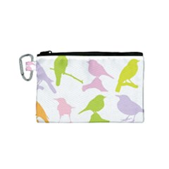 Birds Colourful Background Canvas Cosmetic Bag (small)