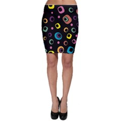 Abstract Background Retro 60s 70s Bodycon Skirt