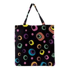 Abstract Background Retro 60s 70s Grocery Tote Bag