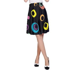 Abstract Background Retro 60s 70s A Line Skirt