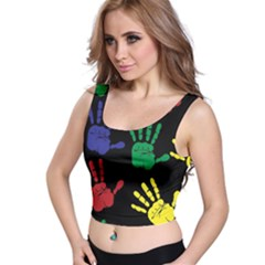 Handprints Hand Print Colourful Crop Top
