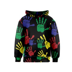 Handprints Hand Print Colourful Kids  Pullover Hoodie
