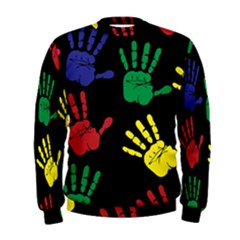 Handprints Hand Print Colourful Men s Sweatshirt
