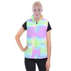 Abstract Background Wallpaper Paper Women s Button Up Puffer Vest