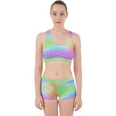 Abstract Background Wallpaper Paper Work It Out Sports Bra Set