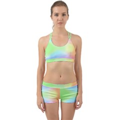 Abstract Background Wallpaper Paper Back Web Sports Bra Set