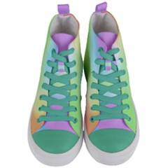 Abstract Background Wallpaper Paper Women s Mid Top Canvas Sneakers