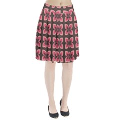 Floral Retro Abstract Flowers Pleated Skirt