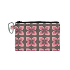 Floral Retro Abstract Flowers Canvas Cosmetic Bag (small)