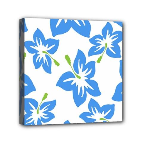 Hibiscus Wallpaper Flowers Floral Mini Canvas 6  X 6