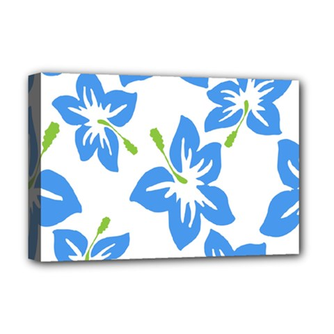 Hibiscus Wallpaper Flowers Floral Deluxe Canvas 18  X 12