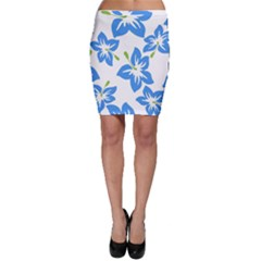 Hibiscus Wallpaper Flowers Floral Bodycon Skirt