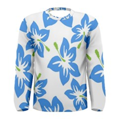 Hibiscus Wallpaper Flowers Floral Men s Long Sleeve Tee