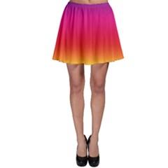 Spectrum Background Rainbow Color Skater Skirt