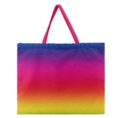Spectrum Background Rainbow Color Zipper Large Tote Bag