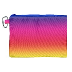 Spectrum Background Rainbow Color Canvas Cosmetic Bag (xl)