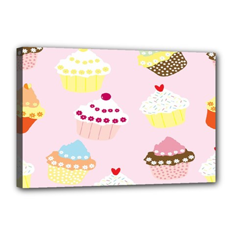 Cupcakes Wallpaper Paper Background Canvas 18  X 12