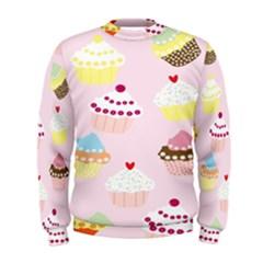 Cupcakes Wallpaper Paper Background Men s Sweatshirt