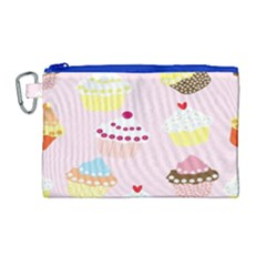 Cupcakes Wallpaper Paper Background Canvas Cosmetic Bag (large)