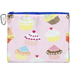 Cupcakes Wallpaper Paper Background Canvas Cosmetic Bag (xxxl)