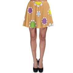Floral Flowers Retro 1960s 60s Skater Skirt