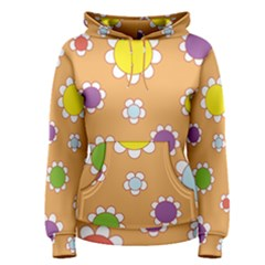 Floral Flowers Retro 1960s 60s Women s Pullover Hoodie