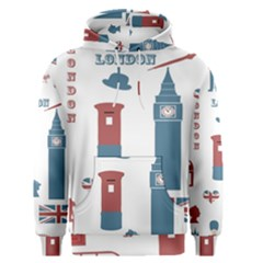 London Icons Symbols Landmark Men s Pullover Hoodie