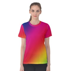 Spectrum Background Rainbow Color Women s Cotton Tee