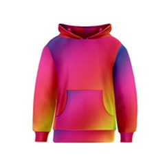 Spectrum Background Rainbow Color Kids  Pullover Hoodie