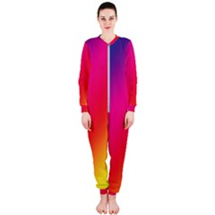 Spectrum Background Rainbow Color Onepiece Jumpsuit (ladies)