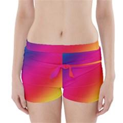 Spectrum Background Rainbow Color Boyleg Bikini Wrap Bottoms