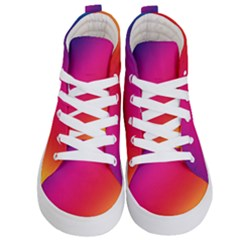 Spectrum Background Rainbow Color Kid s Hi Top Skate Sneakers