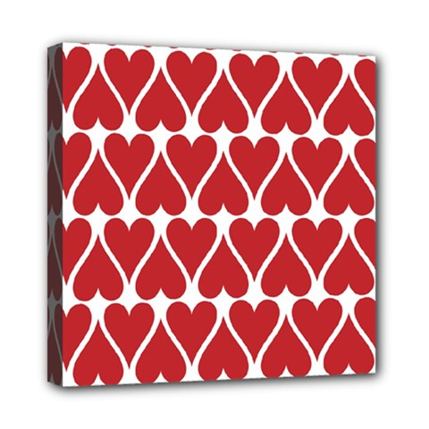 Hearts Pattern Seamless Red Love Mini Canvas 8  X 8