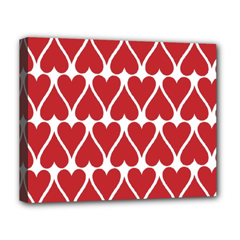 Hearts Pattern Seamless Red Love Deluxe Canvas 20  X 16