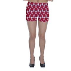 Hearts Pattern Seamless Red Love Skinny Shorts