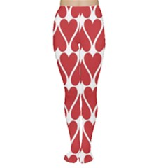 Hearts Pattern Seamless Red Love Women s Tights