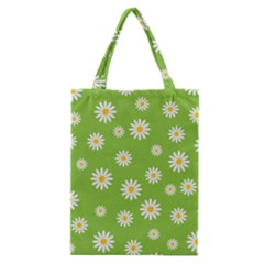 Daisy Flowers Floral Wallpaper Classic Tote Bag