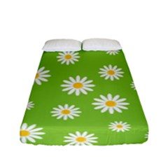 Daisy Flowers Floral Wallpaper Fitted Sheet (full/ Double Size)
