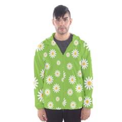 Daisy Flowers Floral Wallpaper Hooded Wind Breaker (men)