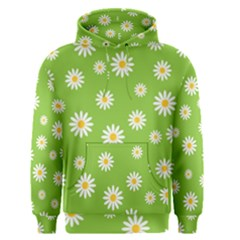 Daisy Flowers Floral Wallpaper Men s Pullover Hoodie